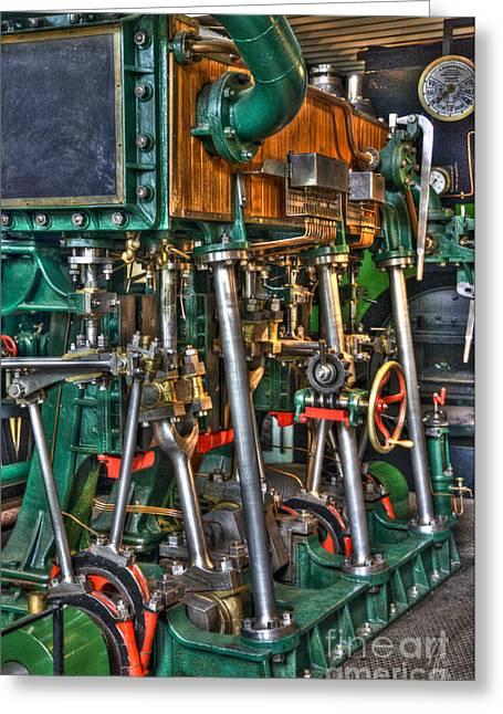 Ship Engine Greeting Card by Heiko Koehrer-Wagner