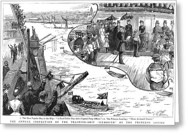 Ship Inspection, 1885 Greeting Card by Granger