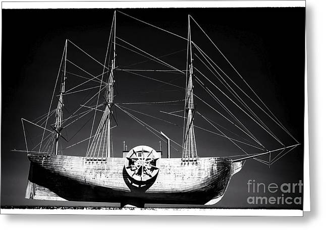 Chatham County Greeting Cards - Ship Greeting Card by John Rizzuto