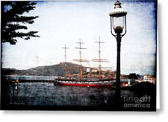 Alcatraz Greeting Cards - Clipper Ship Greeting Card by Stephen Mitchell