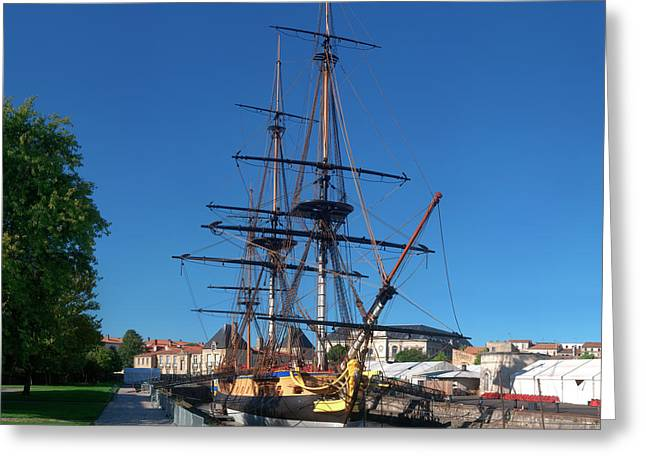 Ship Replica Of The Count De La Fayette Greeting Card by Panoramic Images