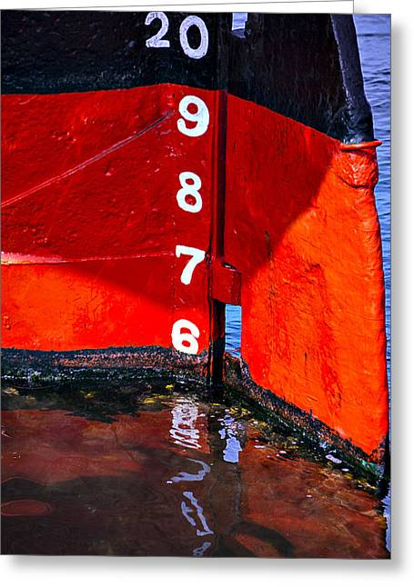 Sailing Ship Greeting Cards - Ship Waterline Numbers Greeting Card by Garry Gay