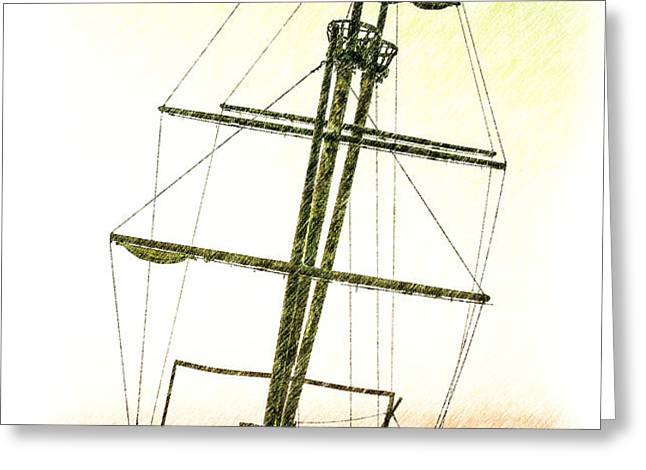 Ship Wreck Greeting Card by Jim Nelson