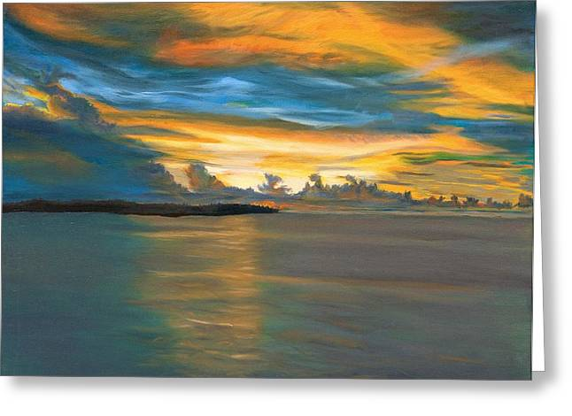 Shipboard Mediterranean Sunset Greeting Card by Phillip Compton