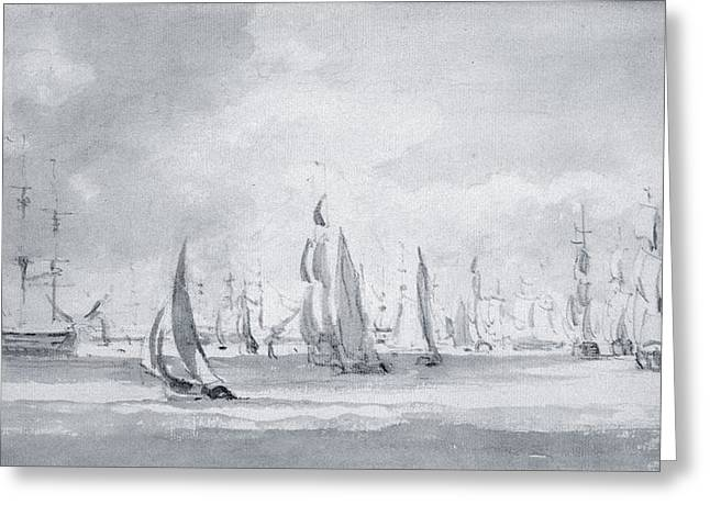 Shipping In The Thames Greeting Card by John Constable