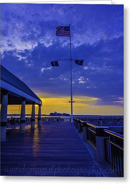 Nast Greeting Cards - Shipping Lane Greeting Card by Wendy Mogul