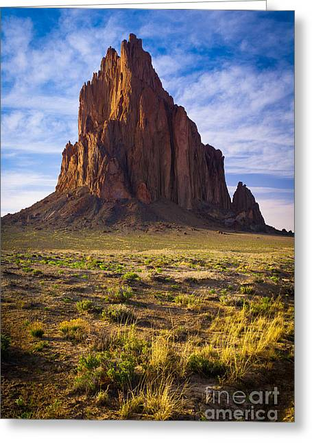 Southwest Greeting Cards - Shiprock Greeting Card by Inge Johnsson