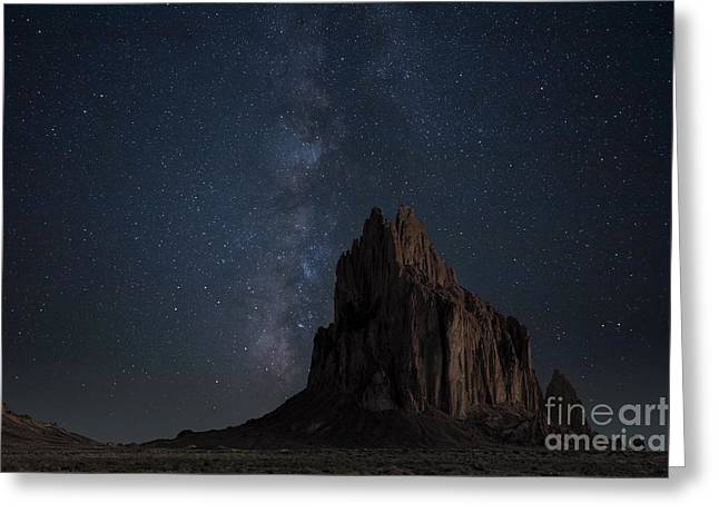 Star Formation Greeting Cards - Shiprock Greeting Card by Keith Kapple