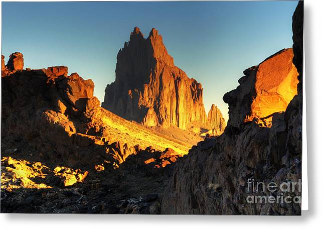Photography As Art Greeting Cards - Shiprock New Mexico Greeting Card by Bob Christopher