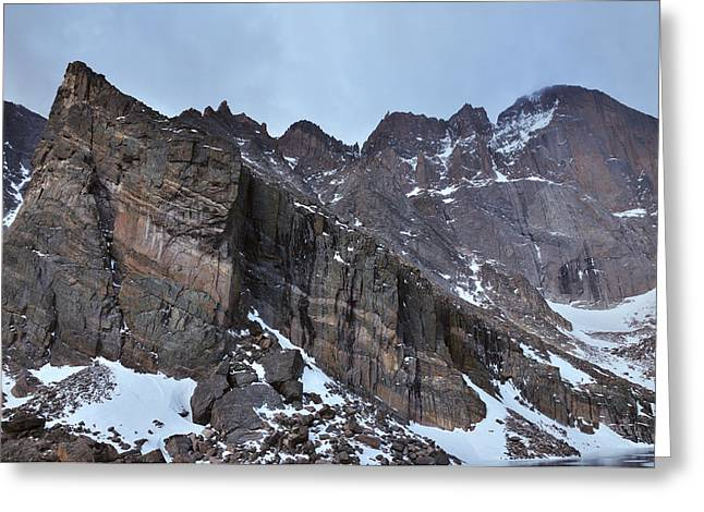 Chasm Lake Greeting Cards - Ships Prow Greeting Card by Adam Paashaus