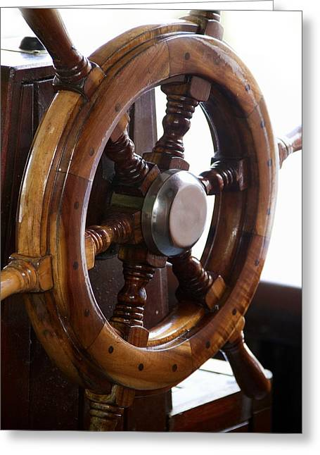 Steering Greeting Cards - Ships wheel Greeting Card by Science Photo Library