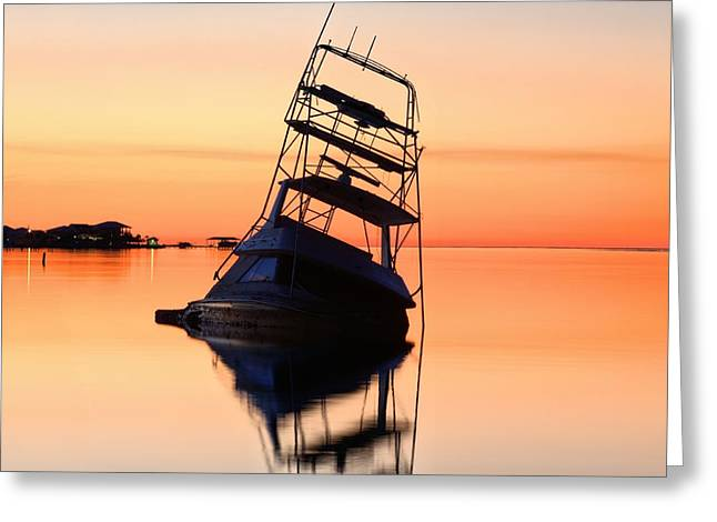 Navarre Beach Greeting Cards - Shipwrecked in Navarre Greeting Card by JC Findley