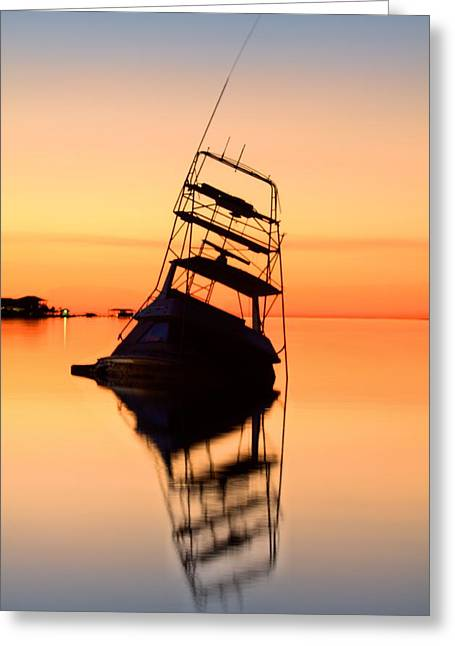 Florida Panhandle Greeting Cards - Shipwrecked in Navarre V Greeting Card by JC Findley