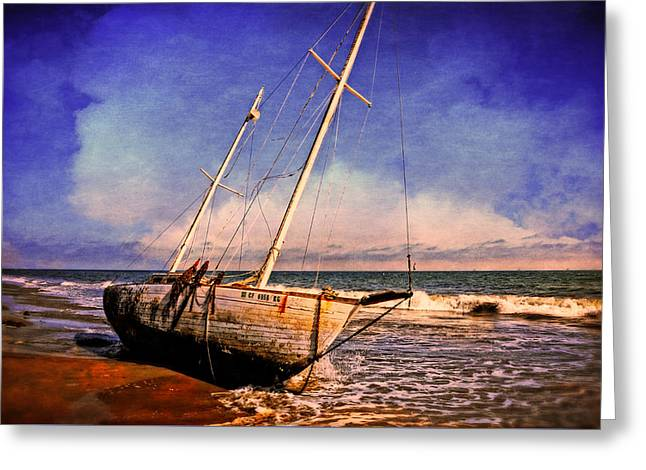 Sailboat Ocean Greeting Cards - Shipwrecked Greeting Card by Lynn Bauer