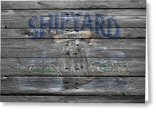 Saloons Greeting Cards - Shipyard Brewing Greeting Card by Joe Hamilton
