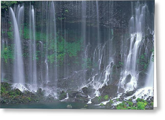 Whitewater Greeting Cards - Shiraito Falls, Fujinomiya, Shizuoka Greeting Card by Panoramic Images