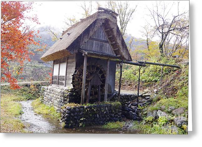 Japan Village Greeting Cards - Shirakawago 6 Greeting Card by Salt Mint