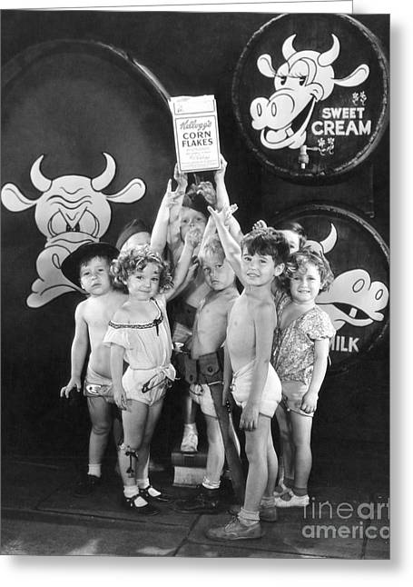 Shirley Temple Greeting Cards - Shirley Temple and Gang Greeting Card by MMG Archives
