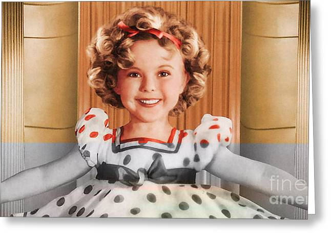 Shirley Temple Greeting Cards - Shirley Temple Greeting Card by Marvin Blaine