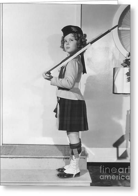 Child Soldier Drawings Greeting Cards - Shirley Temple Greeting Card by MMG Archive Prints