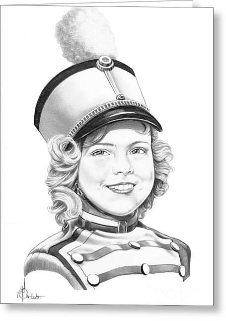 Shirley Temple Greeting Card by Murphy Elliott