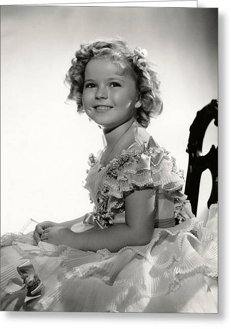 Dance Photo Greeting Cards - Shirley Temple Portrait Greeting Card by Nomad Art And  Design