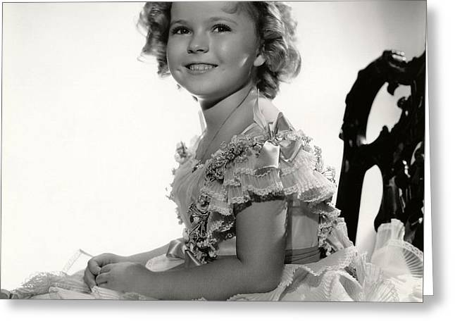 Shirley Temple Portrait Greeting Card by Georgia Fowler