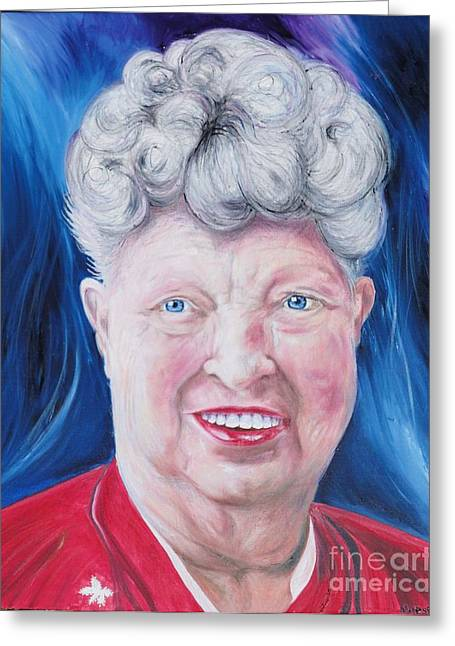 Characterization Greeting Cards - Shirleys Portrait Greeting Card by PainterArtist FINs husband Maestro