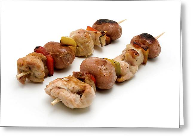 White Photographs Greeting Cards - Shish Kebab Greeting Card by Fabrizio Troiani