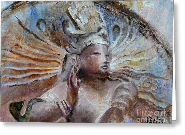 Ann Radley Greeting Cards - Shiva Dreams in Color Greeting Card by Ann Radley