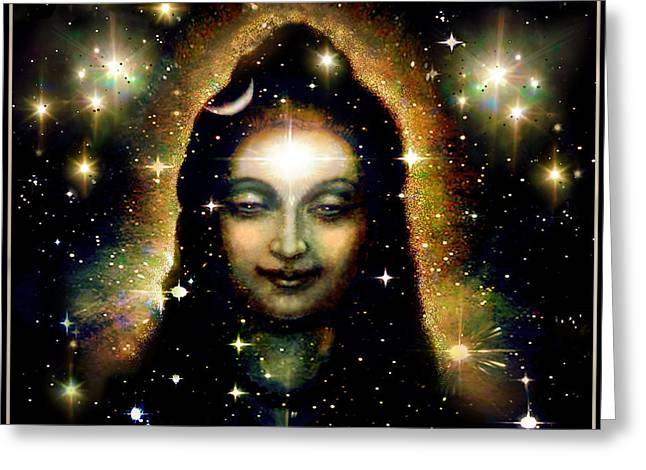 Featured Art Greeting Cards - Shiva in Space Greeting Card by Ananda Vdovic