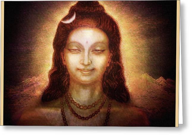 Goddess Print Greeting Cards - Shiva in Transcendental Bliss Greeting Card by Ananda Vdovic