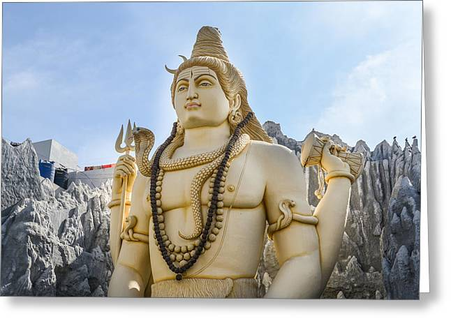 Sculpture Indians Photographs Greeting Cards - Shiva Indian God Greeting Card by Brandon Bourdages