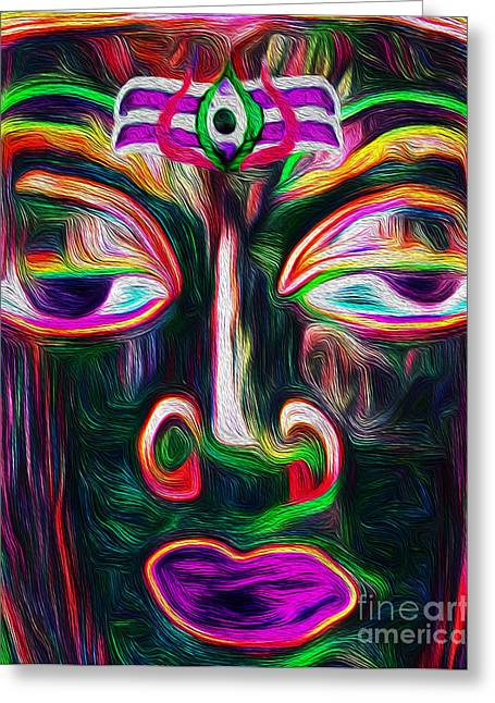 Goddess Durga Digital Art Greeting Cards - Shiva is Love Greeting Card by Tarik Eltawil