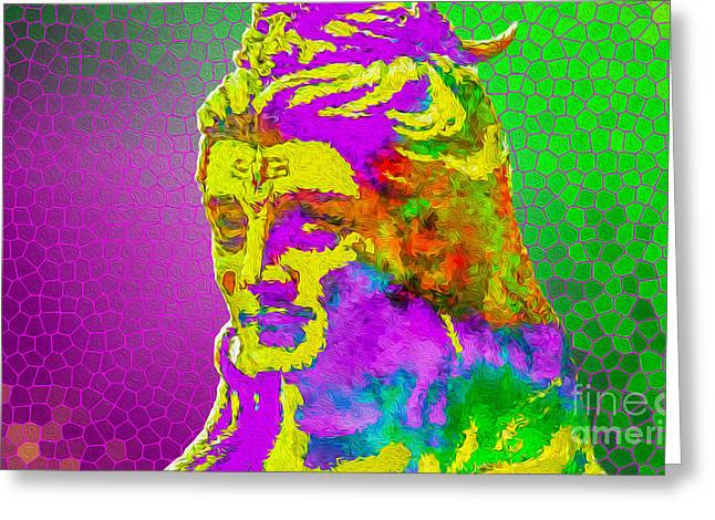 Goddess Durga Digital Art Greeting Cards - Shiva says Om Shanti  Greeting Card by Tarik Eltawil