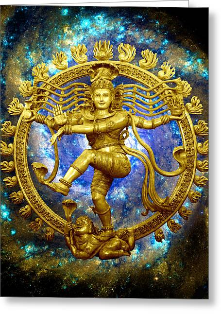 Mahadeva Greeting Cards - Shiva the Cosmic Dancer Greeting Card by Svahha Devi