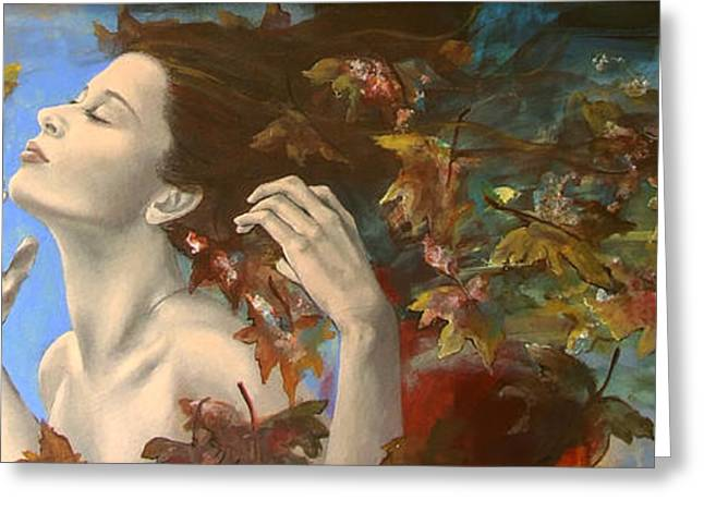 Dorina Costras Art Greeting Cards - Shivers Greeting Card by Dorina  Costras