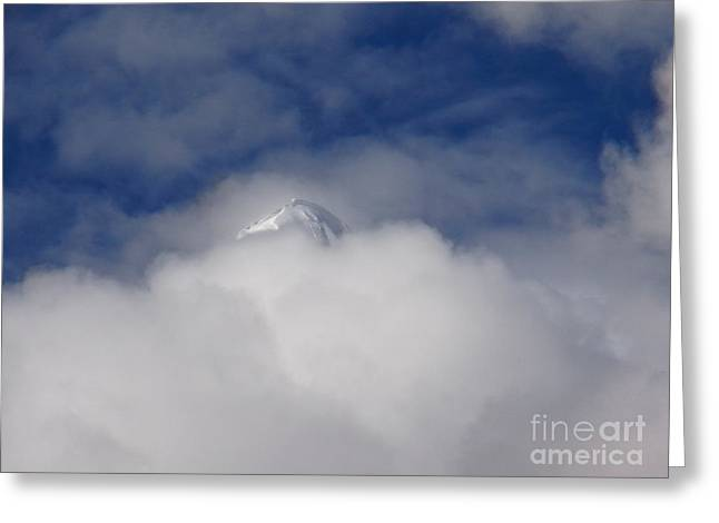 Lingam Greeting Cards - Shivling Tip In Clouds Greeting Card by Agnieszka Ledwon