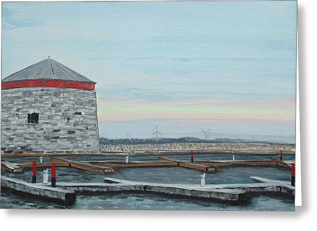 Kingston Paintings Greeting Cards - Shoal Tower Greeting Card by Laura Moreland
