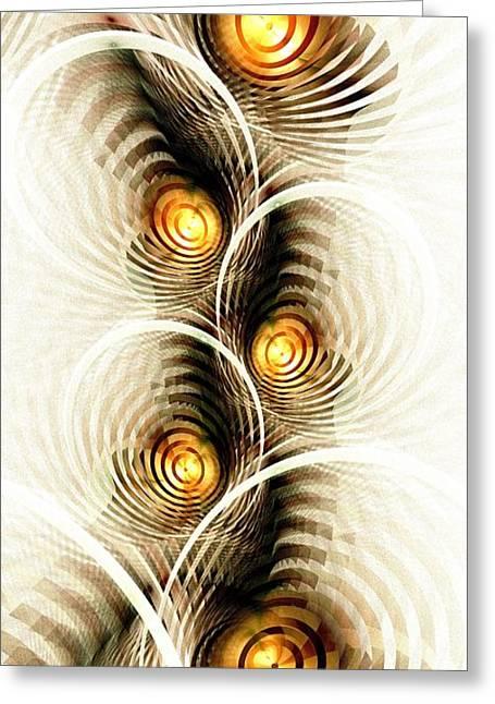 Shock Waves Greeting Card by Anastasiya Malakhova