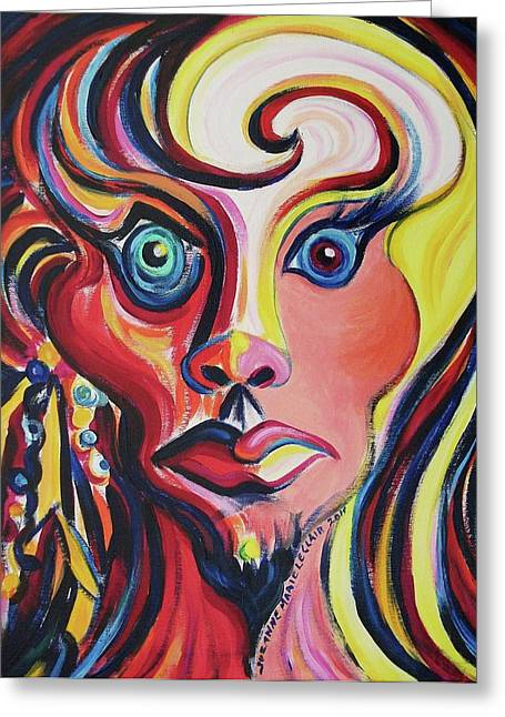 Suzanne Marie Molleur Paintings Greeting Cards - Shocked Greeting Card by Suzanne  Marie Leclair