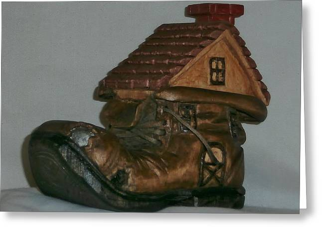 Boots Sculptures Greeting Cards - Shoe House Greeting Card by Russell Ellingsworth