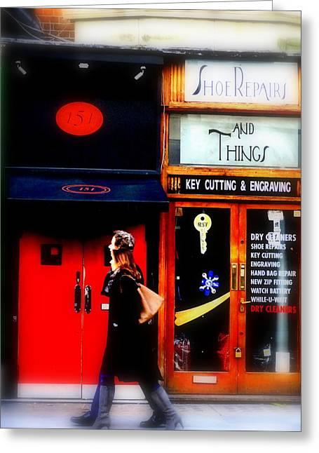 Shoe Repair Greeting Cards - Shoe Repair and Things London  Greeting Card by Funkpix Photo Hunter
