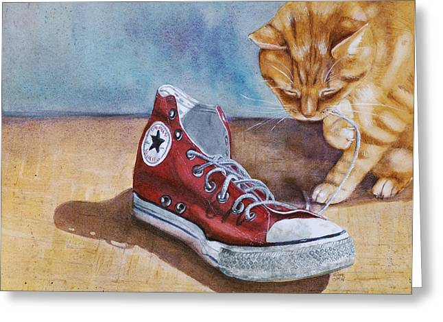 Conversing Paintings Greeting Cards - Shoe Snack Greeting Card by Marie Stone Van Vuuren