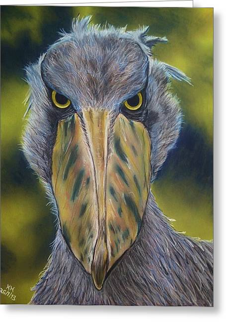Dinosaurs Pastels Greeting Cards - Shoebill Stork Greeting Card by Kevin Hubbard