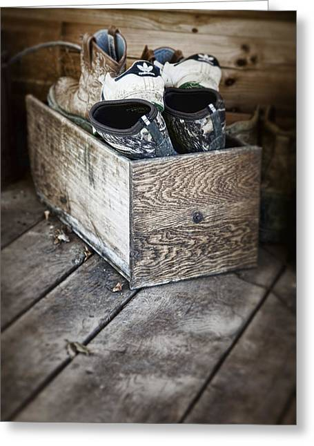 Wooden Box Greeting Cards - Shoebox Still Life Greeting Card by Tom Mc Nemar