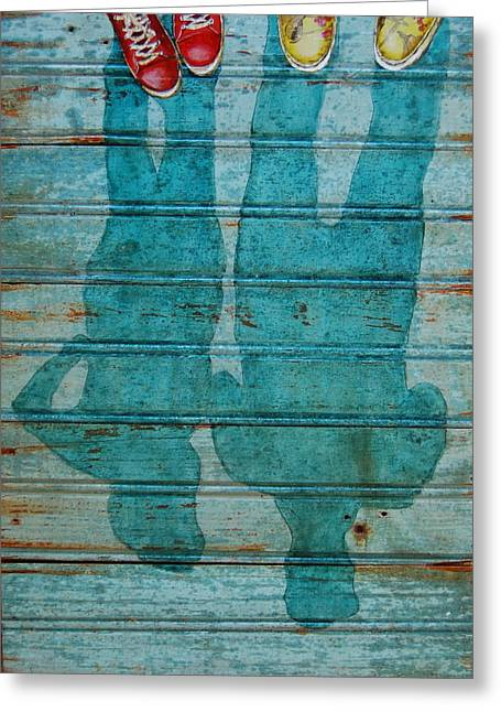 Shoegazers Greeting Card by Danny Phillips