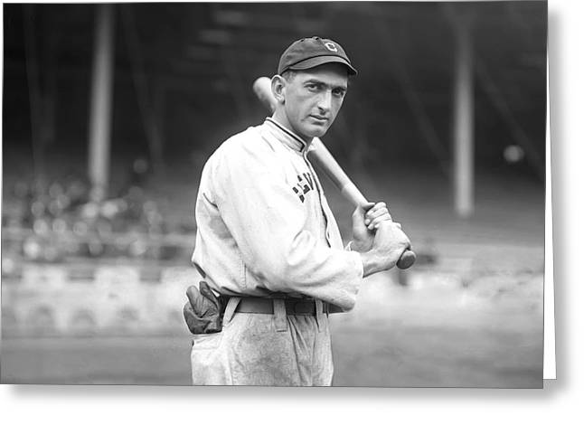 Shoeless Greeting Cards - Shoeless Joe Jackson Greeting Card by Retro Images Archive