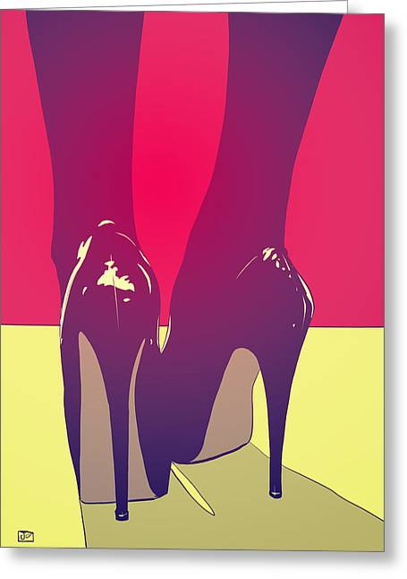Drawings Greeting Cards - Shoes Greeting Card by Giuseppe Cristiano