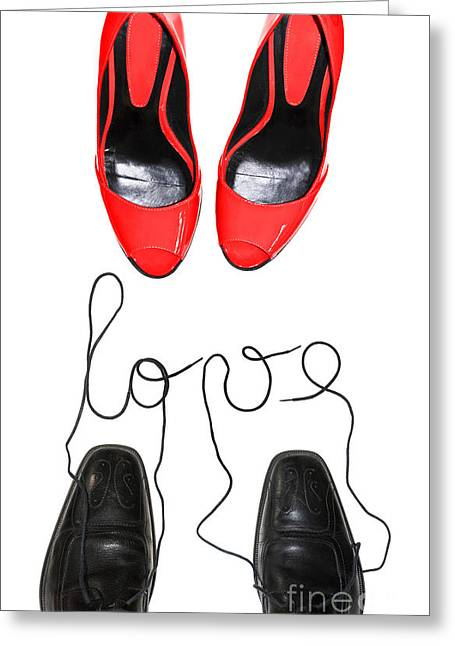 Funny Shoe Greeting Cards - Shoes in love Greeting Card by Delphimages Photo Creations